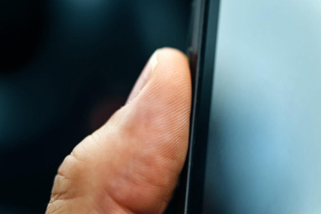 biometrischer fingerprinter in anwendung