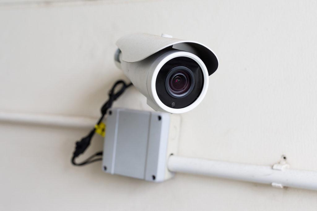 videokamera an hauswand